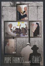 Union Island Grenadines St Vincent 2014 MNH Pope Francis Visits Israel 4v M/S