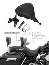 PU Detachable Adjustable Rider Driver Backrest Pad for Harley Touring 1998-2008