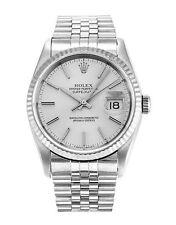 Rolex Silver Strap Round Wristwatches