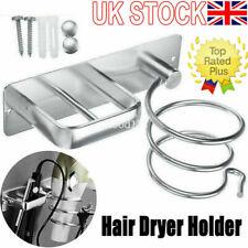 UK✅ Hair Straightener Hair Dryer Holder Storage Aluminum Wall Mount Rack Spiral