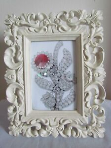"""Rococo Baroque Style Ivory Resin Picture Frame for 6""""x 4"""" Picture"""