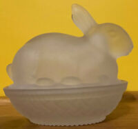 Vintage Frosted Bunny On A Nest