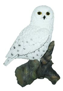 Real Life Snowy Owl Home or Garden Decoration (XRL-SNOW-B)