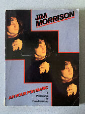 Vintage Jim Morrison An Hour For Magic A Photojournal by Franck Lisciandro Paper