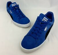Puma Suede Classic Royal Blue Black Gum Sole Sole Size 9 Retro