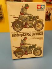 "TAMIYA  ZUNDAPP KS750 BMW R75  GERMAN MOTORCYCLE   ""NEW IN OPEN BOX"""