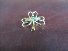 Shamrock pin gold green saint Patrick's day luck of the Irish jewlery clover