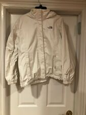 Northface Solid White Hyvent Hooded Rain Jaclet Size XL