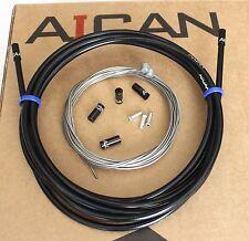 Aican Premium bike MTB Mountain Brake cable housing set kit Alloy Ferrules Black