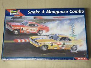 """Revell/Monogram """"Snake & Mongoose"""" combo sealed model car kit"""