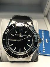 TECHNOMARINE Men's TM-215054 Sea Manta Silver with Black Strap Swiss Watch