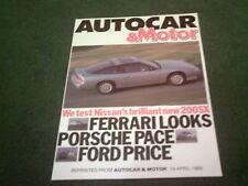 April 1989 NISSAN 200SX 200 SX AUTOCAR & MOTOR ROAD TEST REPRINT UK 8pg BROCHURE
