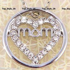 Única Infinito círculo corazón Mamá Regalo Collar De 4 Mothers Day Regalo De Cumpleaños & Lt3