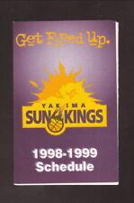 Yakima Sun Kings--1998-99 Pocket Schedule--Regence BlueShield--CBA