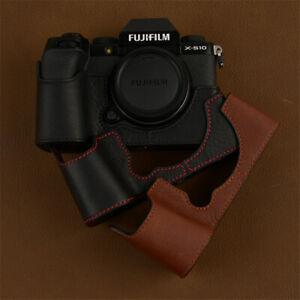 Fujifilm X-S10 Camera Leather Half Case XS10 Retro Body Cover Insert Handmade