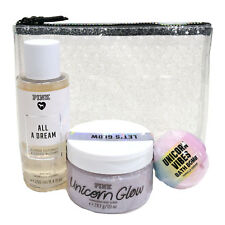Victoria's Secret Pink Gift Set Unicorn Bath Bomb Body Scrub All A Dream Mist Vs
