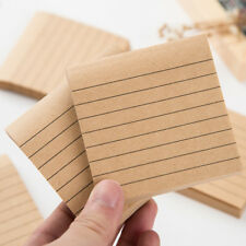 1 Pc Kraft Paper Memo Pads Office School Supplies Planner Stickers Sticky Notes