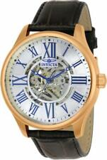 Invicta Vintage 23636 Men's Round Analog Roman Numeral Automatic Leather Watch