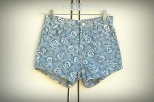 ANNO DOMINI Size Mjr Skulls High Rise Hot Denim Short Shorts