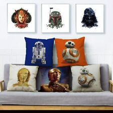 Classic Colourful Star Wars Print Pillow Cover 45*45cm Cushion Cover Linen