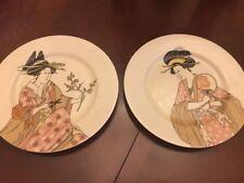 Fitz & Floyd Geisha Girl Salad Plates Set of 2