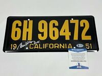 """Tom Wilson Signed """"BIFF"""" 1951 License Plate Back to the Future Beckett COA BTTF!"""