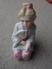 German Continental Hard Paste Porcelain Figure of Girl c1920 NO DAMAGE