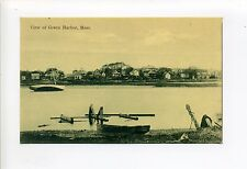 Marshfield MA Mass Green Harbor view, boats, homes along shore, antique postcard