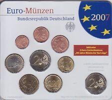 BRD KMS 2007 D mit 2 EURO Umlauf u. Gedenkmünze im orig. Blister, Germany Coins