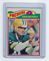 1977 PACKERS Dave Beverly signed card Topps #78 AUTO Autographed Green Bay P