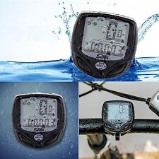 Wireless LCD Digital Cycle Computer Bicycle Bike Waterproof Speedometer Odometer