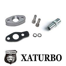 Turbo Oil Return Drain Flange 38mm KKK K03 Garrett GT15 GT17 IHI RHF4 w/ fitting