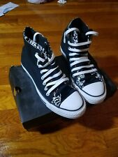 Vintage High Top Double Tongue Chuck Taylor Converse Black/ White