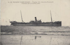 Unused postcard ~ SS Socotra shipwrecked in 1915