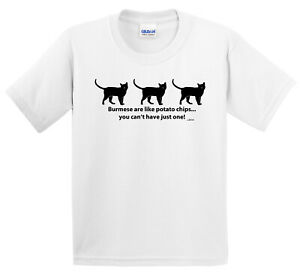 Burmese Cat Potato Chips, you can't have just one! T-shirt or Pillow (S)
