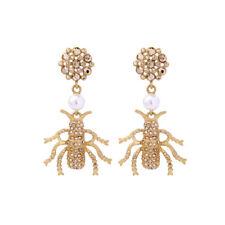 Ohrringe Insekt Käfer Käfer Perle weiß Retro AA26