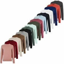 M&S Mens Crew Neck Jumper Long Sleeve Soft Cotton Knit Office Sweater Pullover
