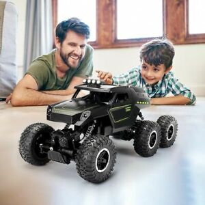 RC Car 6WD 2.4Ghz Crawler With Light Off Road Vehicles High Speed Truck Kids Toy