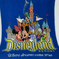 Disneyland Resort Mickey Minnie Pluto Donald Daisy Goofy Tinkerbell Throw Fleece