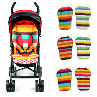 Striped Liner Infant Stroller Mat Cotton Pram Cushion for Baby Kids Random