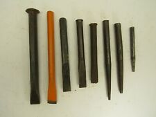Lot of 8 Assorted Vintage Chisels/Punches Mixed Sizes, Hargrave Endere Mastercra