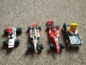 4 x Carrera GO !!! Slot Cars Mario And F1
