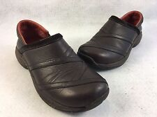 Merrell Primo Patch Bug Brown Leather Clog Mule Womens Size 7.5