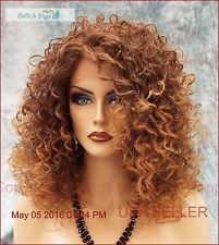 LACE FRONT JERRY CURLS WIG COLOR T4.27 SASSY SEXY HOT STYLE USA SELLER 491