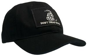 Don't Tread On Me 'Dad' Cap 100% Unstructured Cotton Hat Black