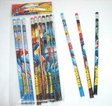 12 pcs Marvel Spiderman Wood Pencils Birthday Party Favor Bag Fillers Spider-Man
