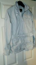 Womens Beige Belted Barbour Jacket. Size 8.