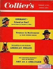 Collier's Magazine February 4, 1955 Germany/Truman In Retirement/American Indian