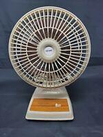 """Vintage Tatung 6""""  2 Speed Personal  Electric Office Desk Fan LE6 BIP"""