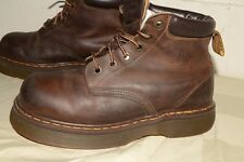 ENGLISH MADE Doc DR.MARTENS Air Wair LEATHER BOOTS Sz US Mens 8-- UK 7 Med.High